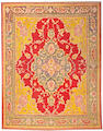An Oushak carpet Wes Anatolia, size approximately 8ft. 8in. x 11ft. 1in.