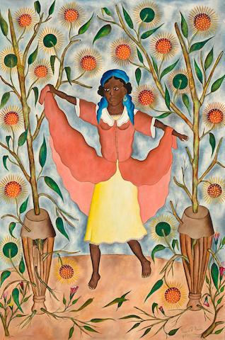 (n/a) Rigaud Benoit (Haitian, 1911-1986) A young girl dancing, 1960 36 x 24in (91.5 x 61cm)