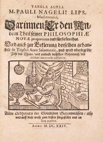 NAGEL, PAUL. Tabula aurea... Darinnen Er den Andern Theil seiner Philosophiae Novae proponiren und fürstellen thut. [Danzig?], 1624.