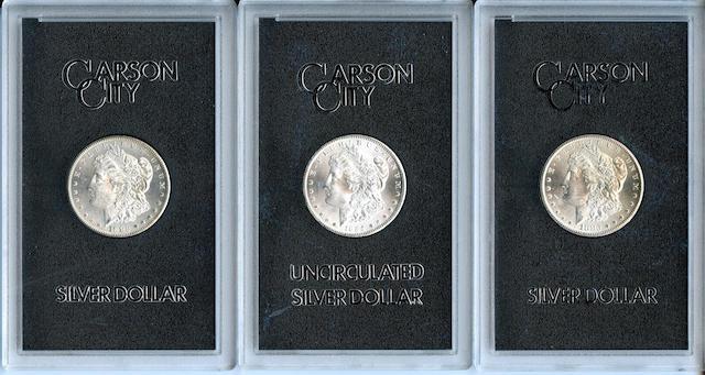 GSA Morgan Dollars (3) 1882-CC, 1883-CC, 1884-CC