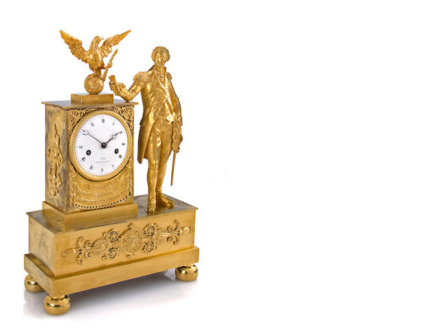 ornolu clock, george washington