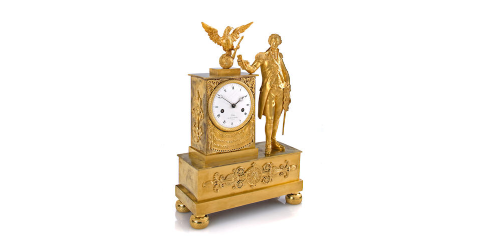 The Porter Family Washington Memorial ClockFrench, for the American market signed Jean-Baptiste Dubuc, rue Michel-le-Compte, No. 33, A Paris, mainspring dated 1815.