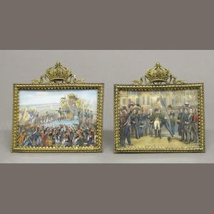 A pair of Napoleonic miniature paintings early 20th century