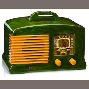 A Fada marbleized green and yellow radio. model L-56, 1939