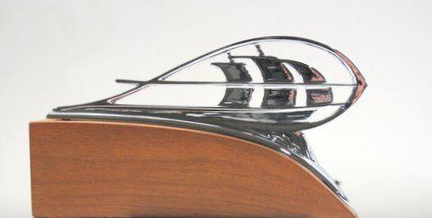 A new/old stock Plymouth Mayflower hood ornament,
