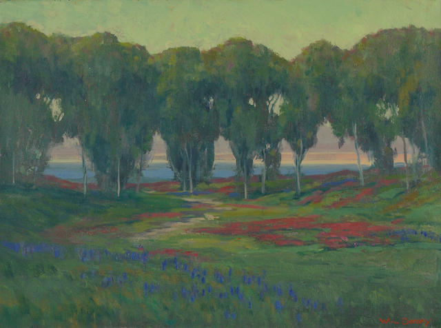 William Dorsey (born 1942) Heliotrope and lupine near the coast 18 x 24in