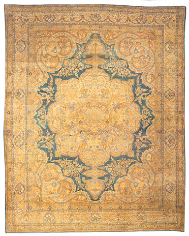 A Lavar Kerman carpet South Central Persia, size approximately 12ft. 1in. x 15ft. 1in.