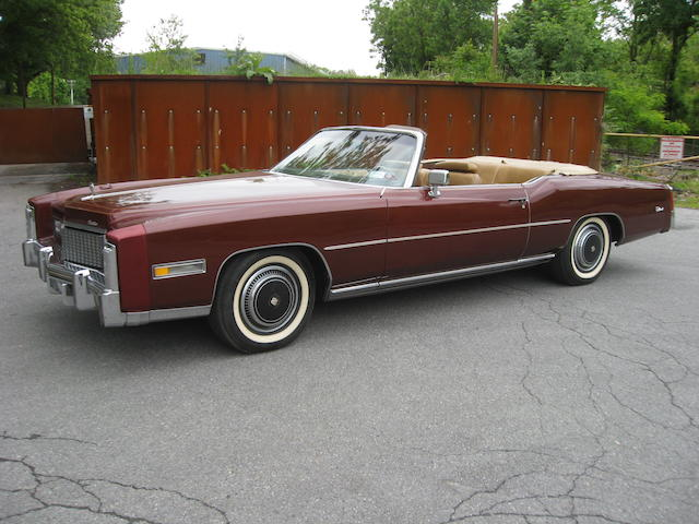 One owner from new, 3588 miles from new,1976 Cadillac Eldorado Convertible