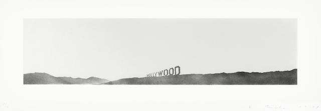 Edward Ruscha (American, born 1937); Hollywood;