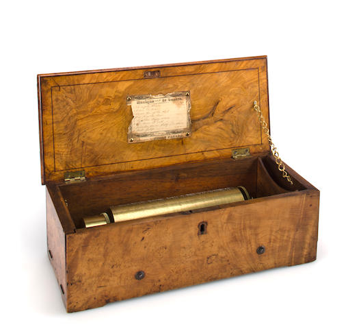 A fine and early key-wind  music box, by Nicole Frères, circa 1841,