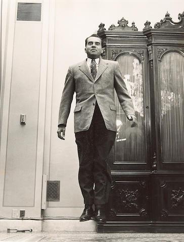 Philippe Halsman (American, 1906-1979); Nixon Jumping;