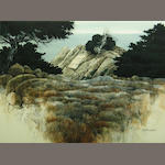 Gerald F. Brommer (American, born 1927) Point Lobos, California 22 x 30in