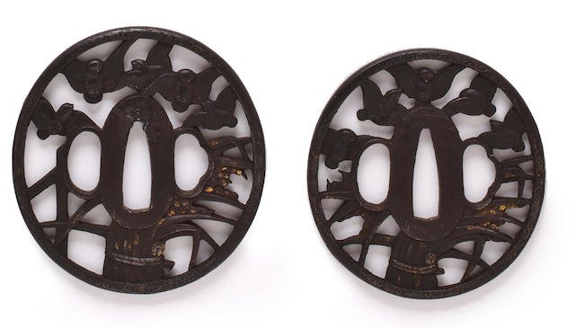 A pair of daisho tsuba Edo period, 19th century
