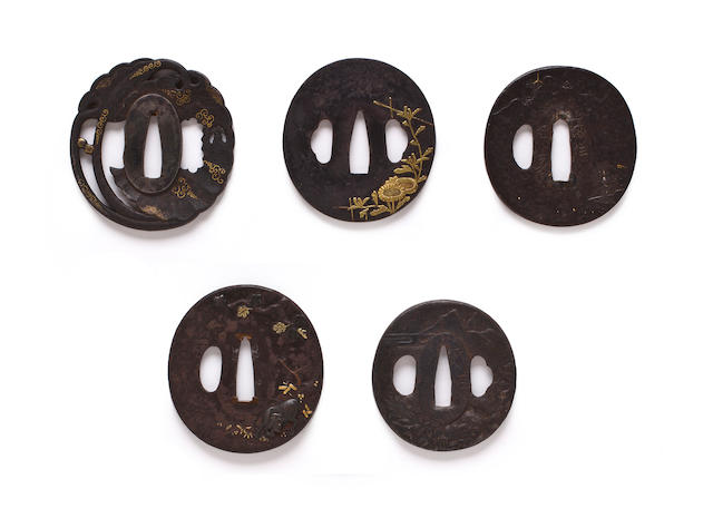 A group of iron and mixed-metal tsuba Edo period, 18th-19th century