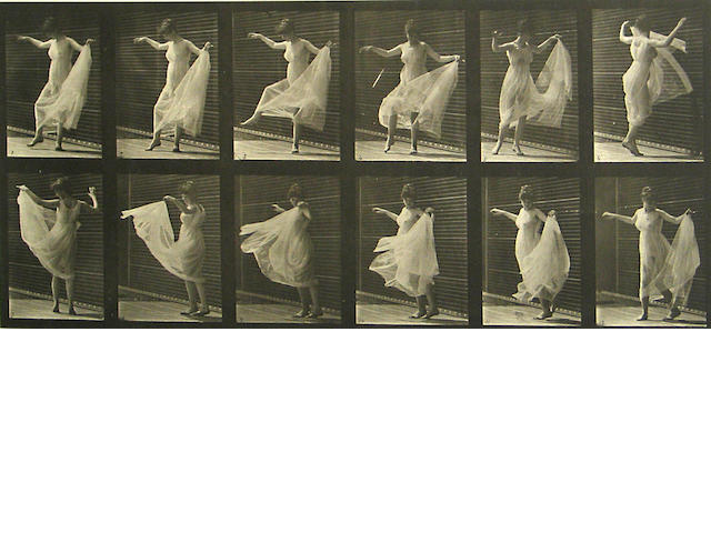 Eadweard Muybridge (British, 1830-1904); Pl. 189, from Animal Locomotion;