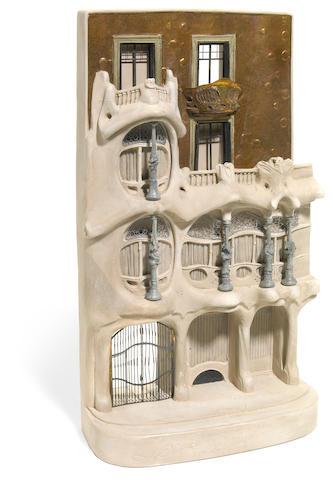 A Timothy Richards plaster model of Antoni Gaudi's Casa Batllo 1998