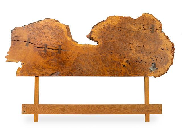 George Nakashima (American, 1905-1990) Kingsize Headboard, 1971