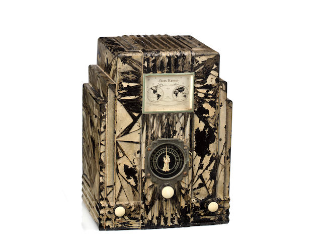 An Air King Skyscraper crystalized black radio