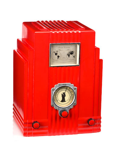 An Air King Skyscraper red radio