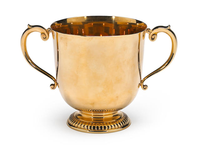 14Kt Gold Two Handled Cup by Shreve & Co.
