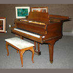 A mahogany baby grand piano, 20th century