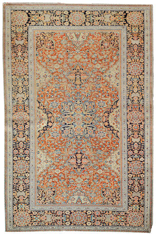 A Mohtasham Kashan rug Central Persia, size approximately 4ft. 5in. x 6ft. 10in.
