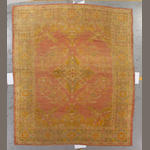 An Oushak carpet West Anatolia, size approximately 10ft. x 11ft. 8in.
