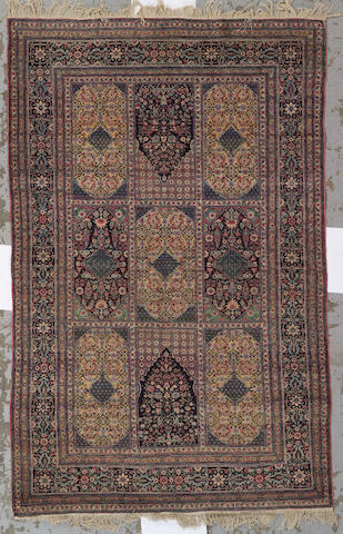A Tehran carpet size approximately 4ft. 5in. x 7ft. 2in.