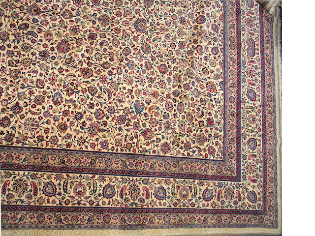 A Meshed carpet Size approximately 13ft. x 19ft.