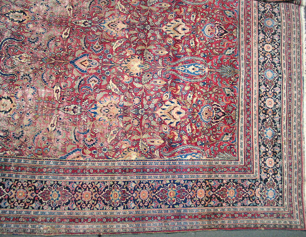 A Meshed carpet Size approximately 13ft. 6in. x 10ft. 6in.