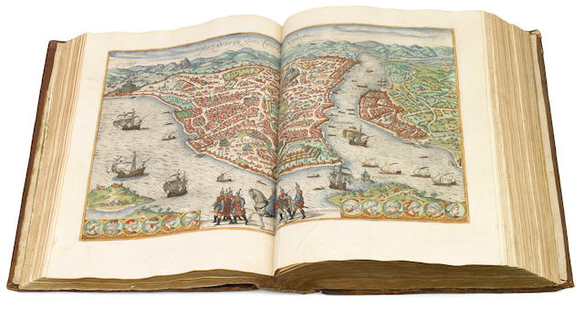BRAUN, GEORGE, AND FRANZ HOGENBERG. Civitates orbis terrarum. Cologne and Antwerp: the Author, and Philippe Galle, 1575-93.