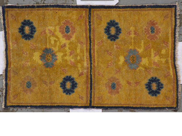 A Ningxia rug China, size approximately 2ft. 3in. x 3ft. 9in.