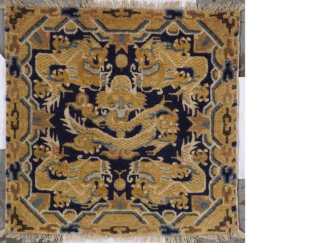 A Ningxia rug China, size approximately 2ft. 1in. x 2ft. 1in.