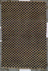 A Tibetan checkerboard rug Tibet, size approximately 2ft. 9in. x 4ft. 1in.