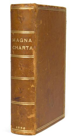 [LAW.] Magna Charta cum statutis quæ antiqua vocantur, iam recens excusa. London: Richard Tottell, 1556 (i.e. 1560?).