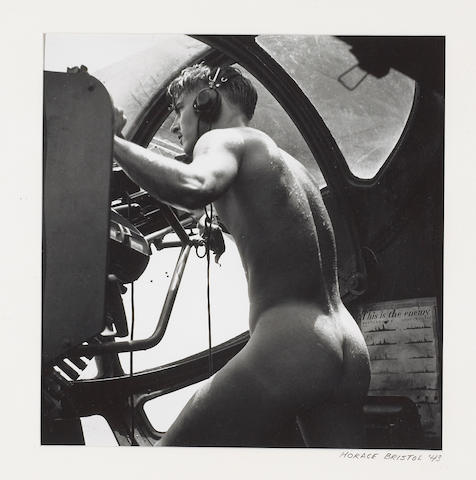 Horace Bristol (American, 1909-1997); Rescue at Rabaul: PBY Blister Gunner;