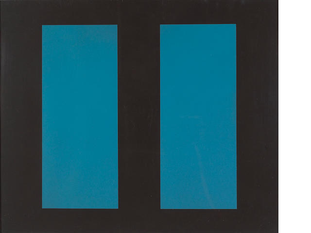 John McLaughlin (American, 1898-1976); Untitled (Blue Vertical Lines);