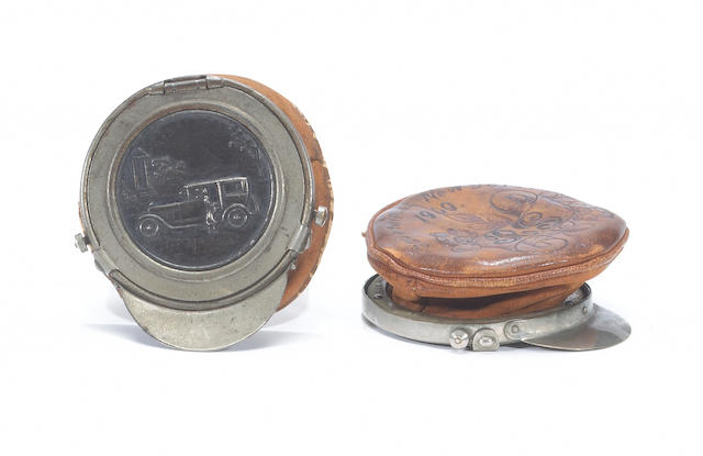 Two chauffeur's coin purses, circa 1909,