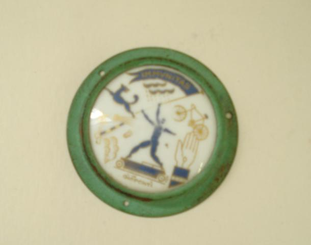 A good Gio Ponti signed badge,