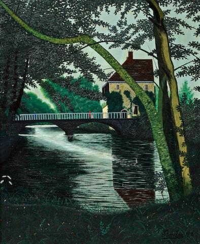 Camille Bombois (French, 1883-1970) Bords de l'eau a Chevrieres 28 3/4 x 23 5/8in (73 x 60cm)