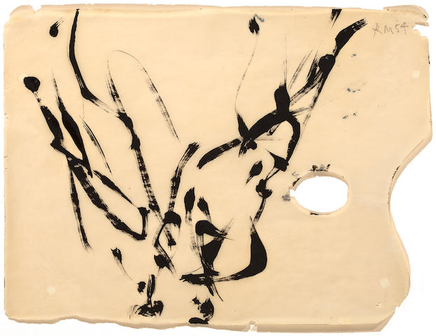 (n/a) Robert Motherwell (American, 1915-1991) Bird study, 1954 11 3/4 x 15 1/2in (29.8 x 39.4cm)