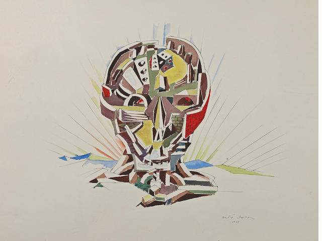 André  Masson (French, 1896-1987) City of the Skull