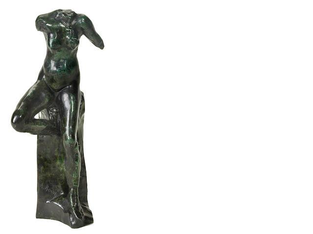 Auguste Rodin (French, 1840-1917) Nu féminin assis, petit modèle, also known as 'Petite étude de mouvement', 1885/1962 11 7/8 x 4 15/16 x 3 11/16in (30.2 x 12.6 x 9.4cm)
