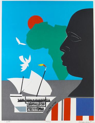Romare Bearden (American, 1914-1988); Roots;