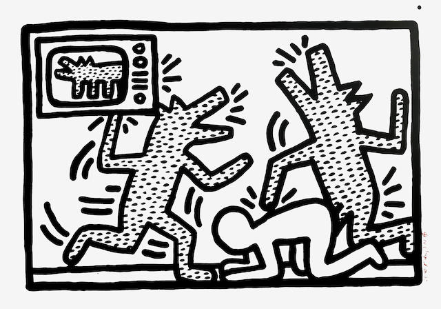 Keith Haring (American, 1958-1990); Untitled III;