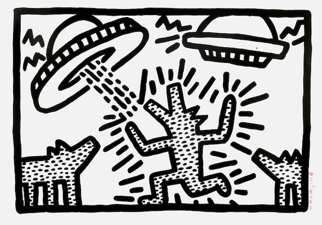Keith Haring (American, 1958-1990); Untitled IV ;