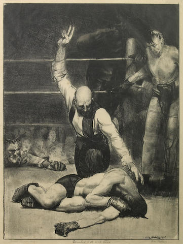George Bellows (American, 1882-1925); Counted Out, First Stone;