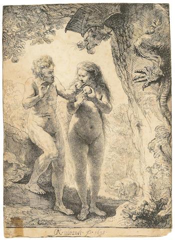 Rembrandt Harmensz van Rijn (Dutch, 1606-1669); Adam and Eve;