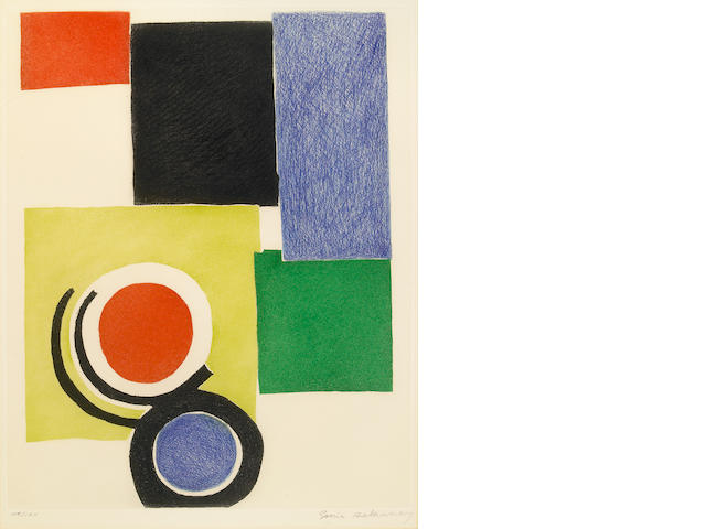 Sonia Delaunay (French, 1885-1979); Untitled (Circles and Squares);