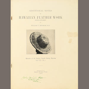 Eight volumes of Hawaiian Featherwork, circa 1899